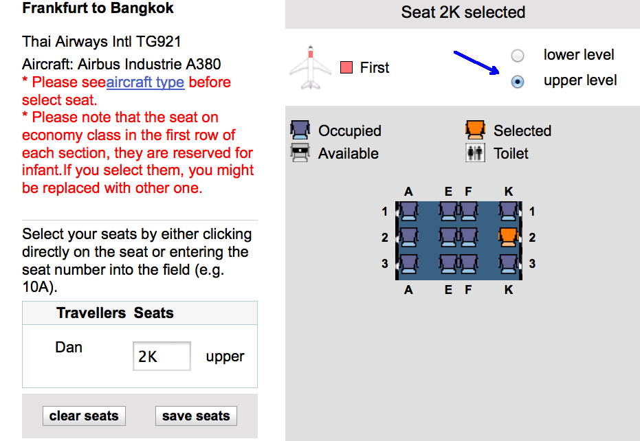 United airline seat assignments