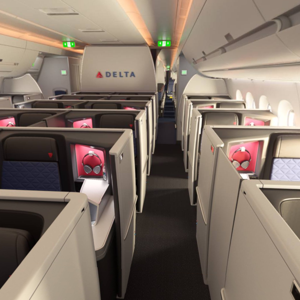 Africa Business Class: Delta One A350 Business Class Suite Cabin [image Credit