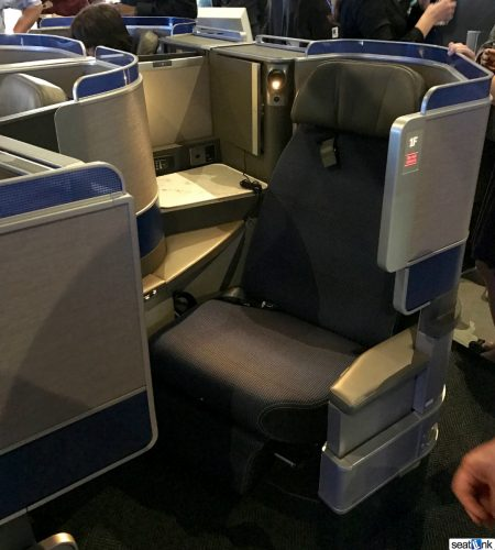 United Polaris Business Class Seat (aisle-side)