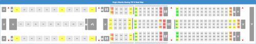 Virgin Atlantic 787-9 Seat Map