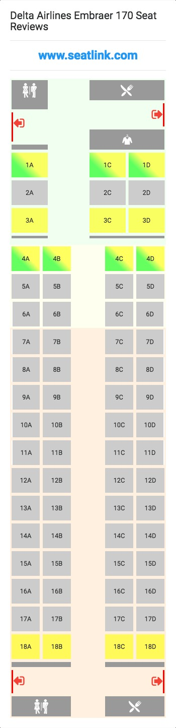 Delta Seat Maps on