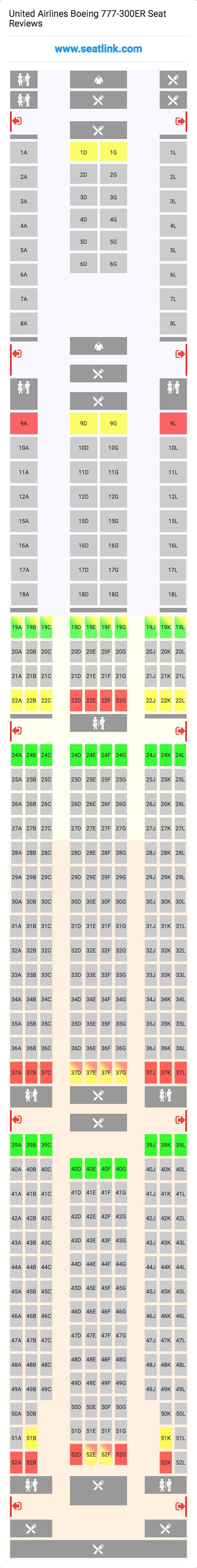 United Airlines Boeing 777-300ER Seating Chart - Updated ...