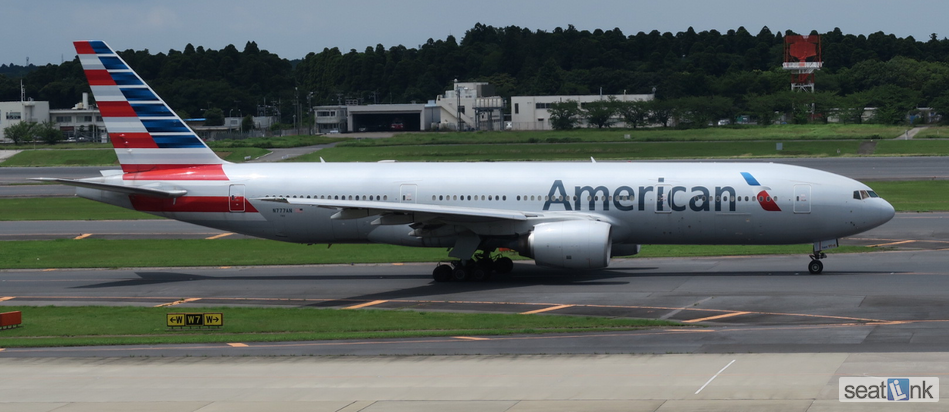 American Airlines 777-200 (772) Version Zodiac with premium economy